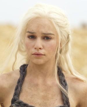 La actriz Emilia Clarke en una escena de Game of Thrones.