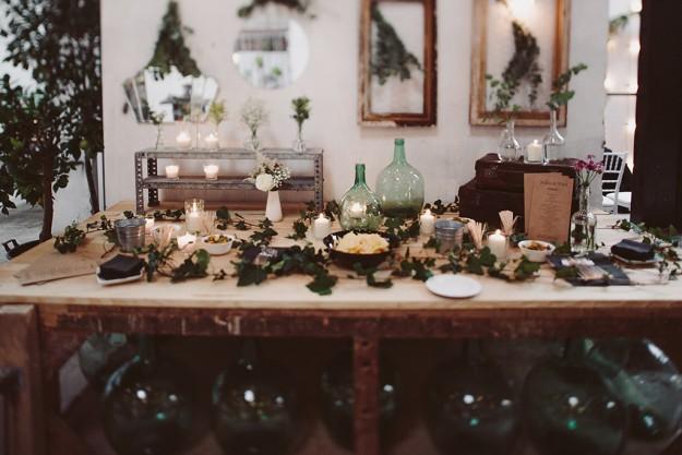 detalles deco de banquete de boda