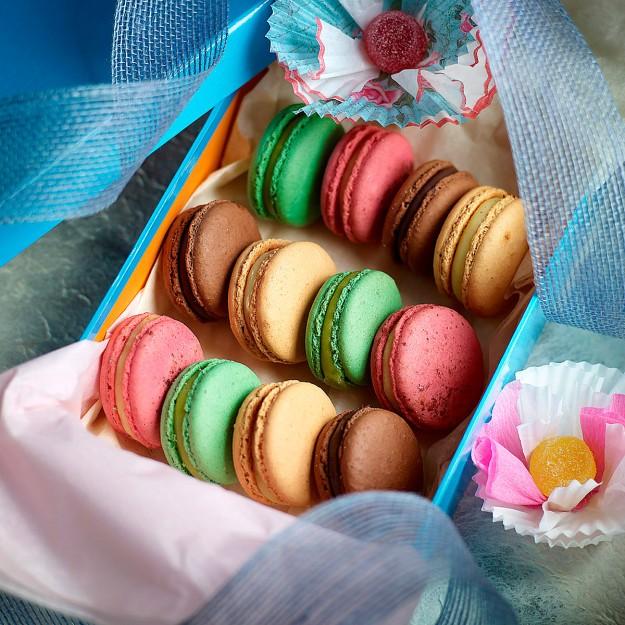 Macarons de caramelo