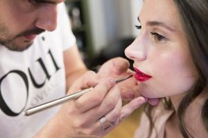 Maquillaje de Oui Novias para la diseñadora Cristina Pascual