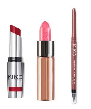 Para recrear el look de labios ahumados con tu maquillaje: Barra de labios Unlimited Stylo 07 (6,90 euros), Perfilador 505 (5,90 euros), Gossamer Emotion 119 (8,90 euros). Todo de Kiko Milano.