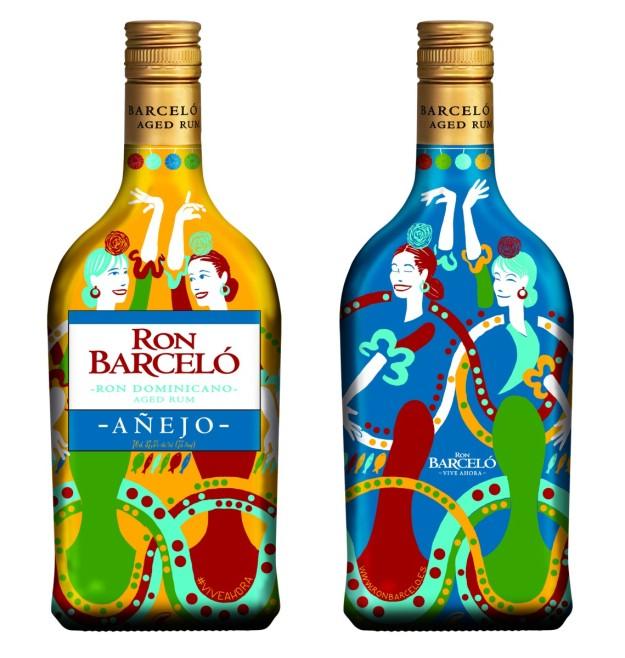 Botella Ron Barceló edición Feria de Abril