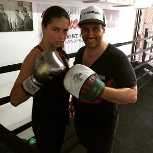 Adriana Lima y sus clases de boxeo.