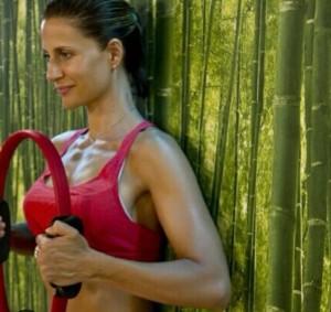 María Giner de Sports Angels entrenando la respiración