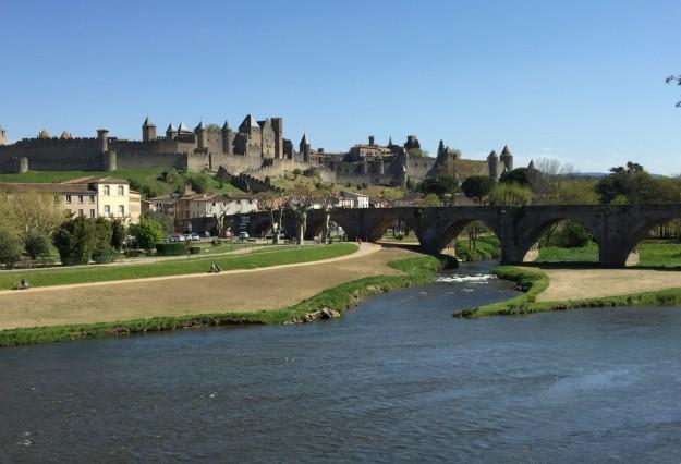Vista de la ciudad de Carcassonne.
