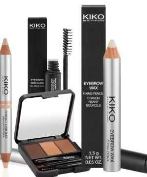 Productos de Kiko Milano para un buen diseño de cejas