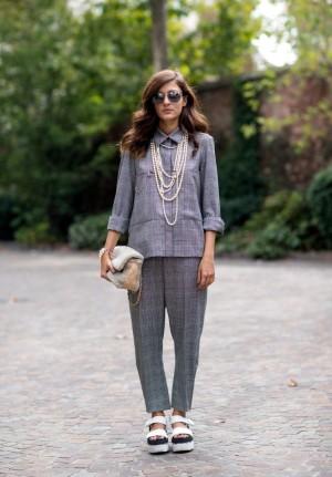 El estilo de Eleonora Carisi siempre ha tenido un toque de ironía, aún cuando ha vestido piezas o tejidos clasícos.