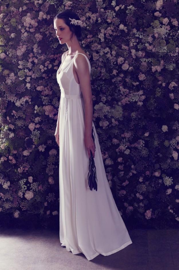 La primera colección de vestidos de novia de Ailanto se inspira en el universo floral.