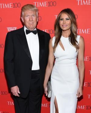 Donald Trump y Melania Trump en una reciente gala de TIME con los personajes más influyentes del año.
