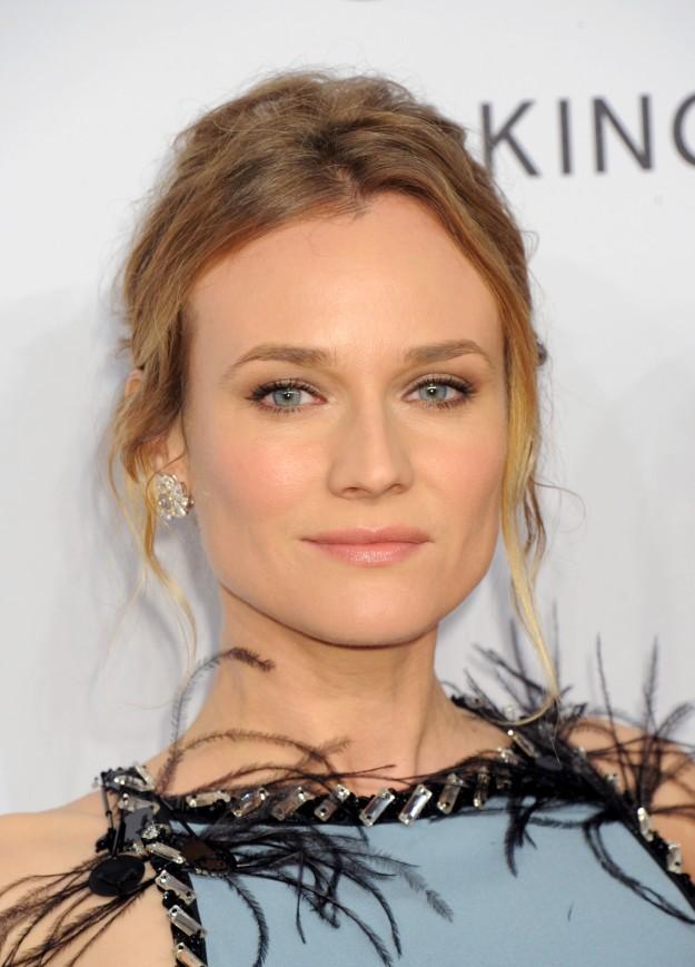 Maquillaje muy natural y favorecedor de Diane Kruger.