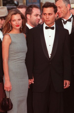 Kate Moss con Johnny Depp