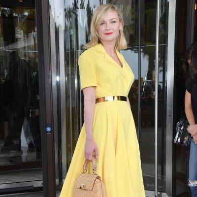 Así se hizo el vestido amarillo de Kirsten Dunst