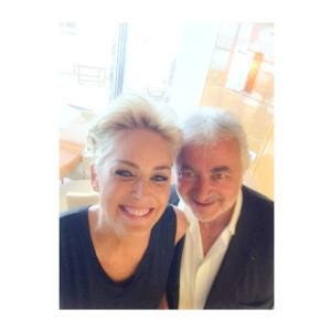 Franck Provost junto a Sharon Stone.