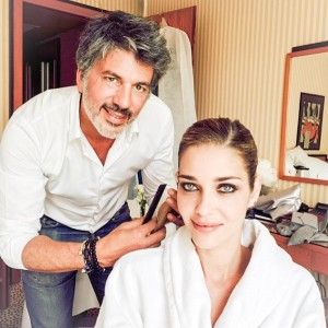 Fabian Provost junto a la modelo Ana Beatriz Barros en el Festival de Cannes.