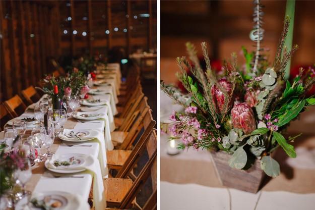 decoración de mesa banquete