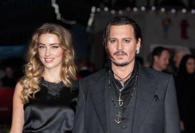Johnny Deep y Amber Heard en el Festival de cine de Londres.