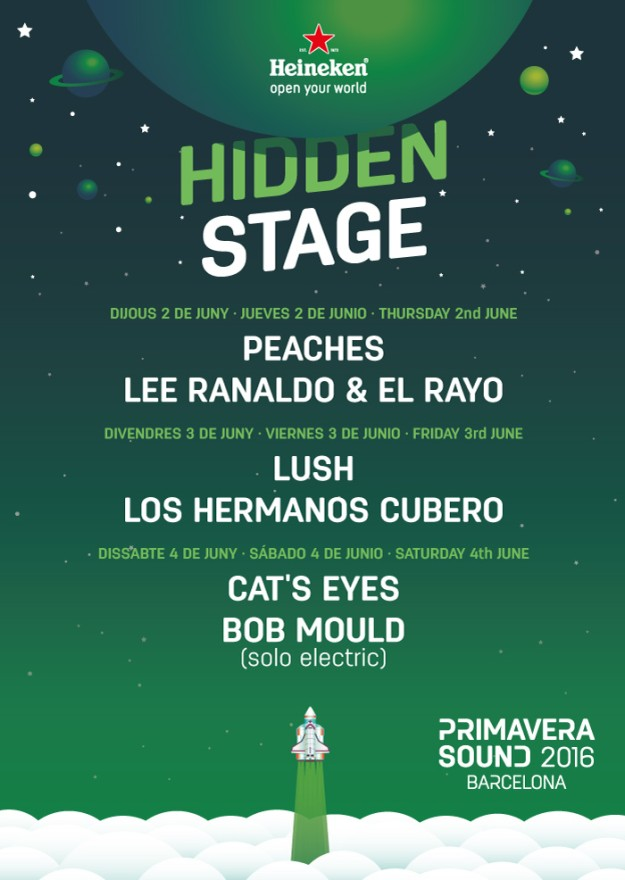 Cartel del Heineken Hidden Stage de 2016.
