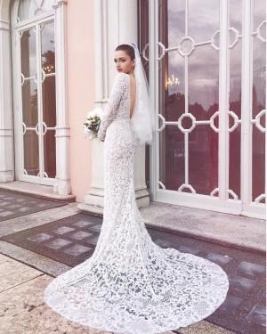 La blogger italiana Eleonora Caris lució un vestido de encaje diseñado por Elie Saab para el día de su boda.