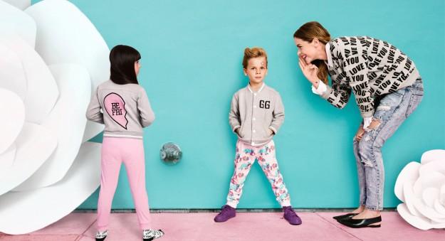 La actriz y modelo se une a la línea de moda infantil Gardner and the Gang.
