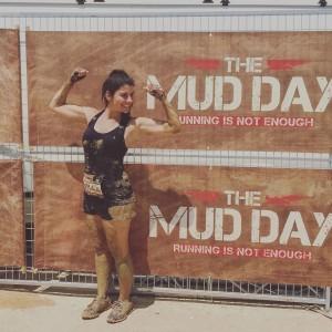Gloria Vázquez en The Mud Day