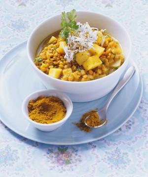 Lentejas con curry: un buen aporte de hierro