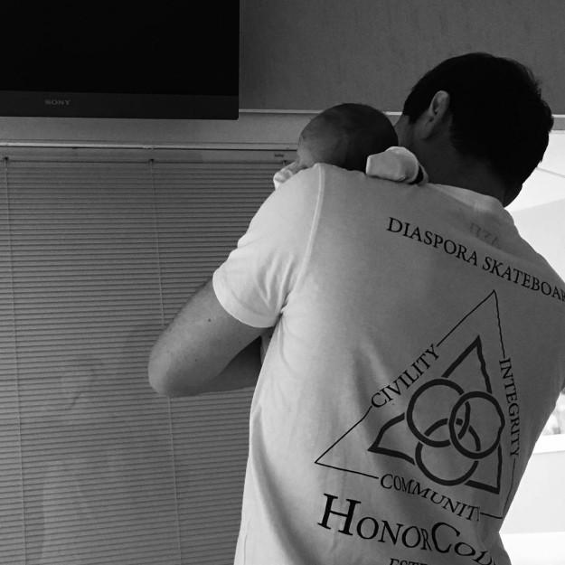 Iker Casillas junto a su segundo hijo, Lucas.