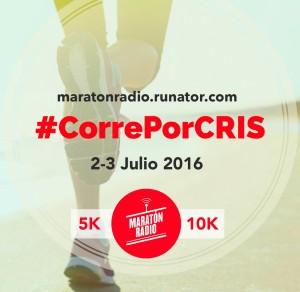 Cartel de la carrera solidaria Corre Por Cris.
