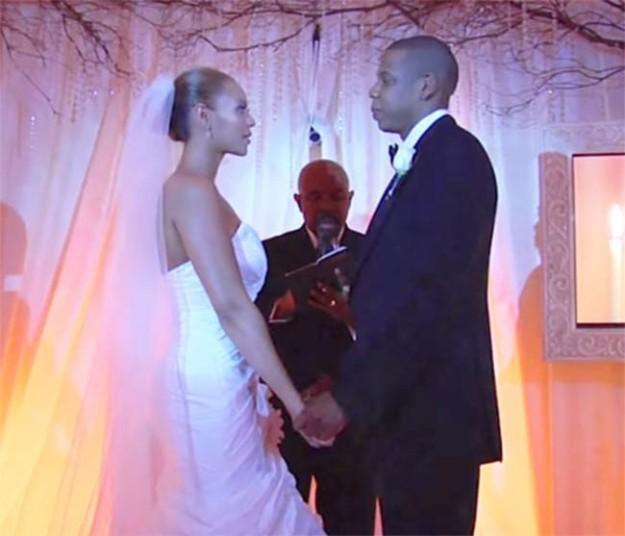 Imagen de la boda de Beyoncé y Jay Z en abril de 2008.
