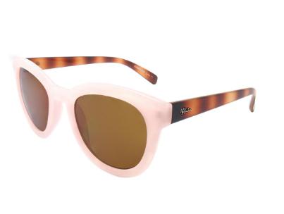 Gafas de sol en tono rosa cuarzo y varillas en carey. 39 euros.