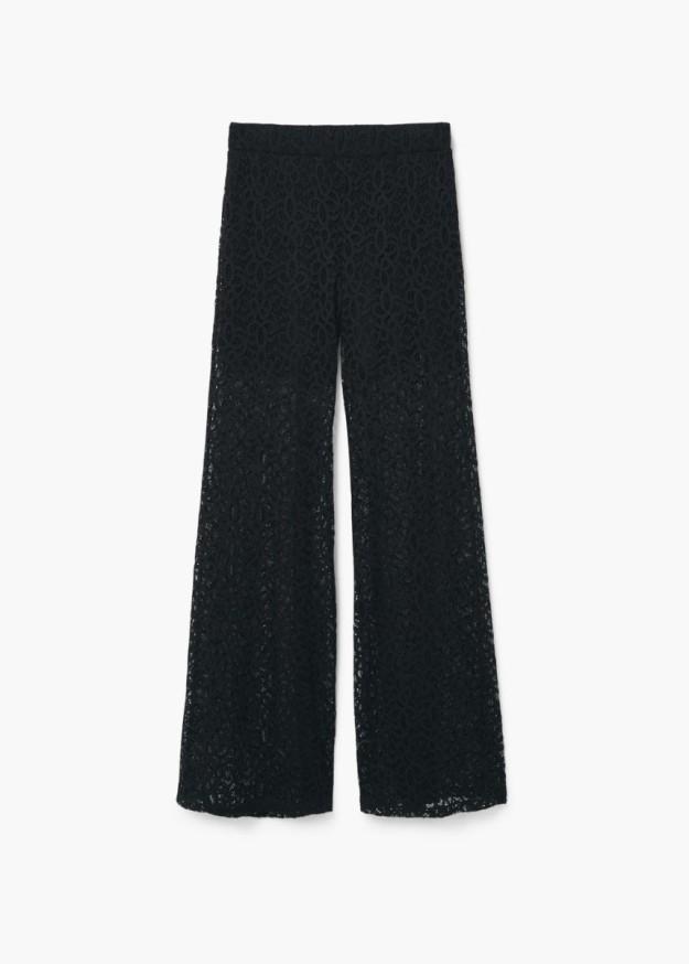 Pantalón negro de crochet. De Mango, 39,99 euros.