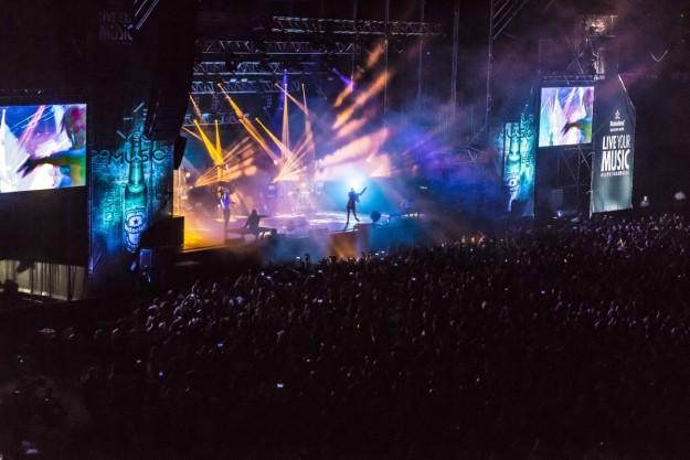 Concierto de Grimes en el escenario Heineken del BBK Live 2016