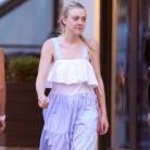 Dakota Fanning repite vestido de Zara