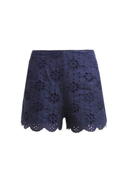 Shorts bordados. De Mint & berry, 34,95 euros.