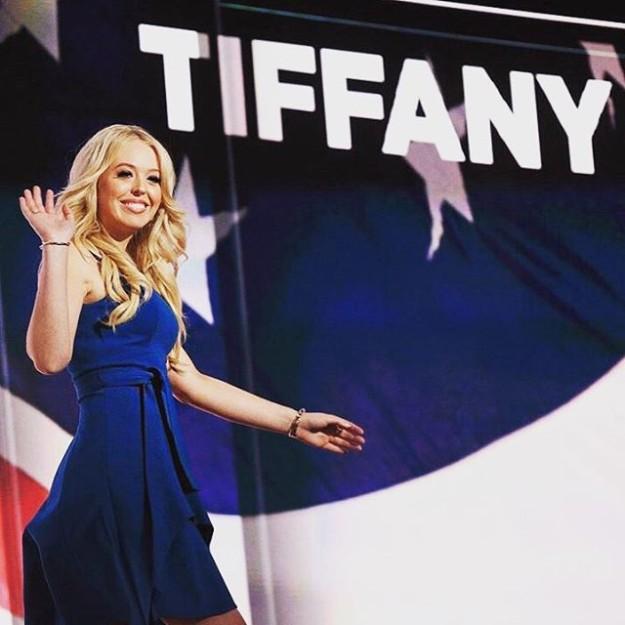 Tiffany Trump dando las gracias a sus seguidores de Instagram tras su discurso en la convención republicana de Ohio.