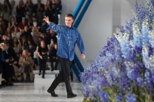 Raf Simons en octubre de 2015, aún como director artístico de Dior en la Paris Fashion Week, días antes de dejar la marca francesa.