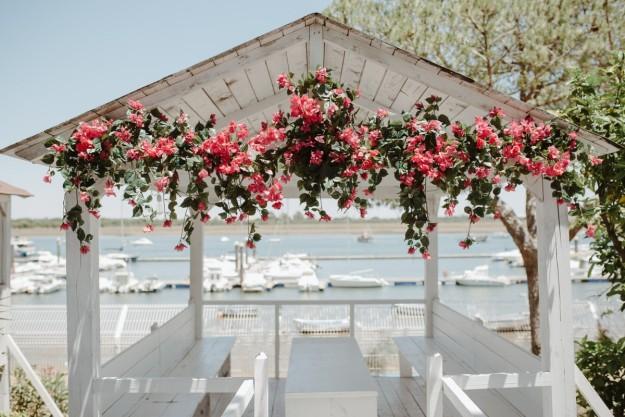 La celebración tuvo lugar en una terraza de verano llamada Consorcio, un lugar mirando a la ría de Punta Umbría.