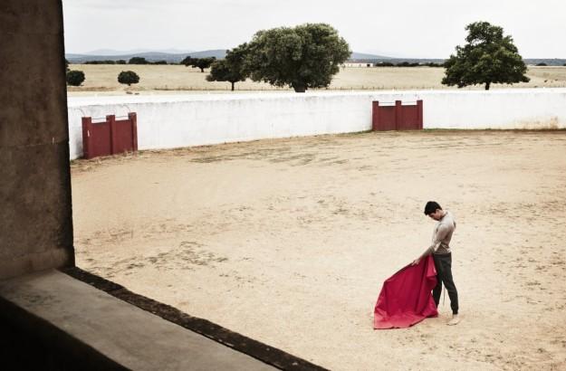 La finca de Matilla de los Caños, en Salamanca, cuenta con un tentadero en el que Manzanares entrena durante el invierno.