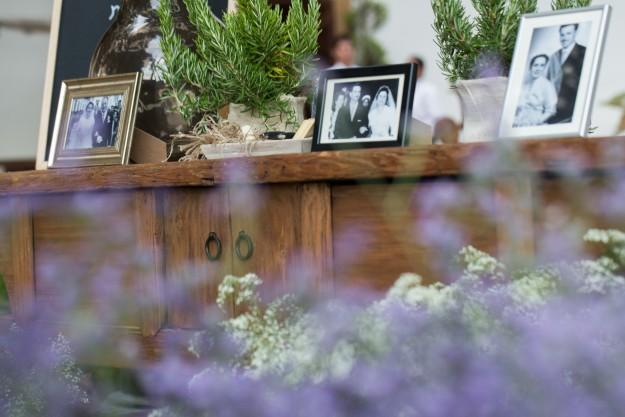De la decoración floral del lugar se encargó Chitina, una íntima amiga de la novia.