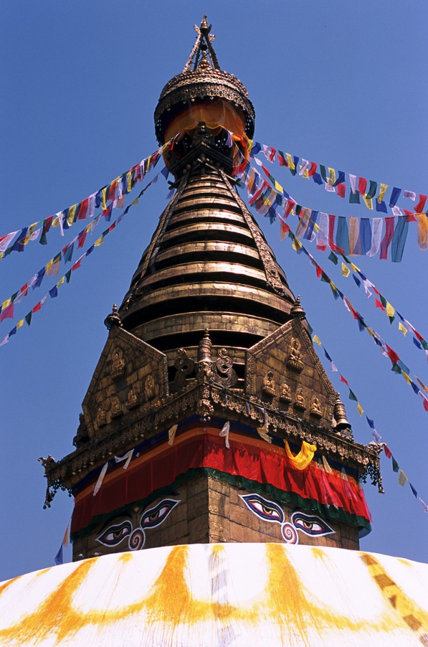 Pagoda de Swayanbhunath en Katmandú.