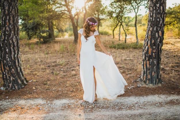 El vestido de novia de Pilar era de la diseñadora Sole Alonso.
