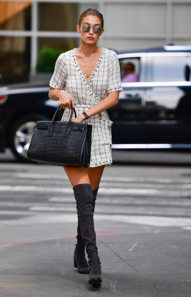 Gigi Hadid O Cómo Combinar Un Mini Vestido Y Botas Altas Telva
