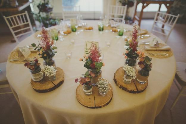 Toda la decoración floral del lugar fue obra de Pando Floristas.