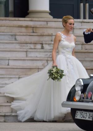 Marta Hazas vestida de novia en el día de su boda