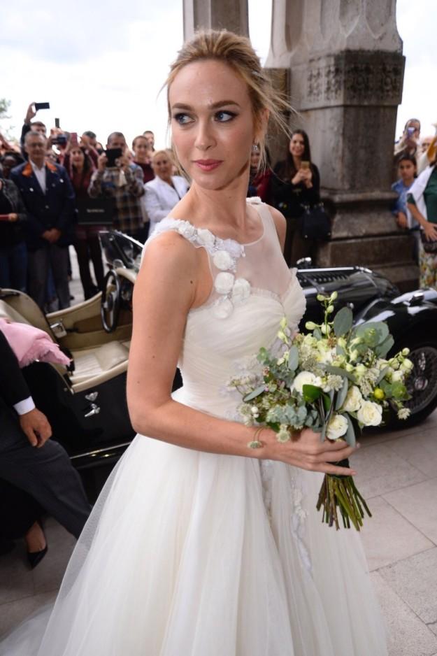 Marta Hazas en el día de su boda