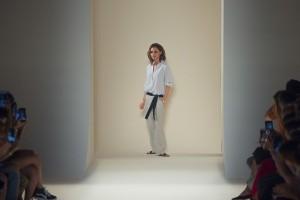 Victoria Beckham en la semana de la moda de Nueva York