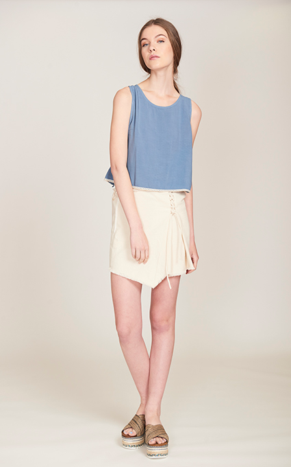 Mini falda y top blue