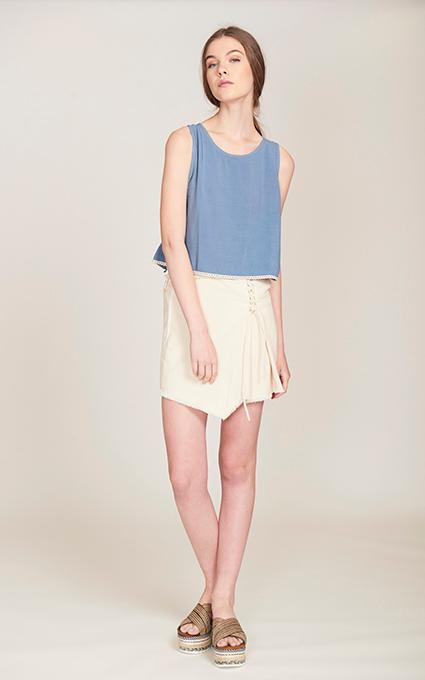 Mini falda y top blue