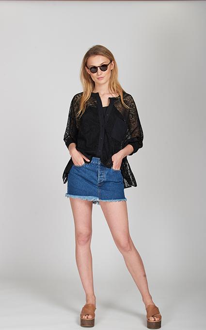 Minifalda denim