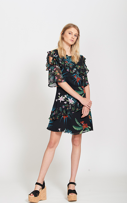 Mini vestido estampado