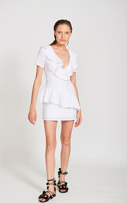 White minidress